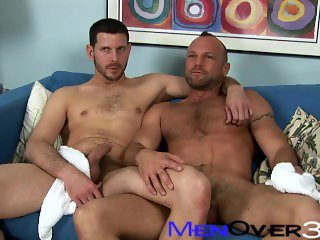 BTS MenOver30 - Hot Hairy Muscle Daddies Chad Brock & Clay Towers