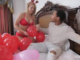 Zoey Monroe Celebrates Valentines Day with A Big Black Cock