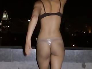 Kaili Thorne slapping her fine ass in slow motion