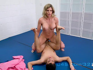 Cory Chase in Step Mom wrestle Fucks her Step-Son