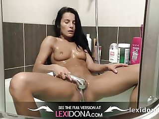 Lexi Dona- I strip?and get in the shower to soap my fit body