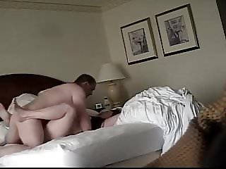 Hotel Spy Cam: Busty BBW MILF Is A HOT Fuck!