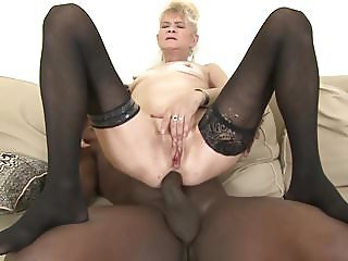 Granny fucked hard in her ass by black guy she gets creampie