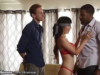 Asian Hotwife gets a Big Black Cock Surprise!