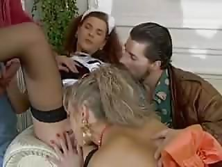 French Lady & Maid fucked by 2 Cops