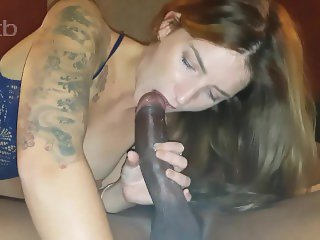 Wife fucked Deep and Hard gets huge BBC Creampie