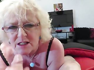 Amazing granny facial