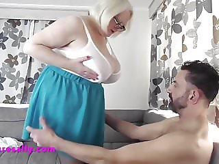 Mature Sally with a young admirer