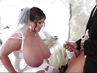 plump big tits milf sucks and fucks  on her wedding day