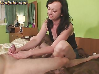 Maya jerking with 2 cumshots