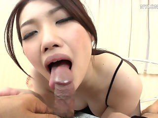 Asian Ballerina dancer in pantyhouse fucked