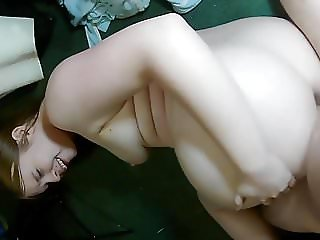 Fat slutty gf takes a cock in her ass