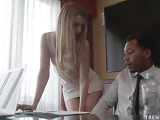 Alexa Grace seduces hung black worked for sex