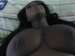 Creampie For His Pregnant Black Wife