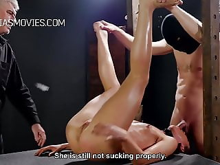 Cunt whipping for young model
