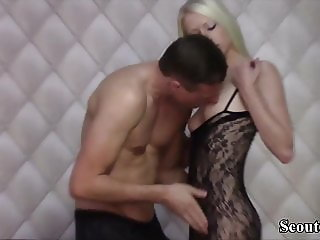 Extrem Skinny German Teen Lucy Seduce to Fuck and Facial