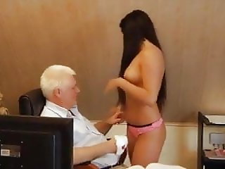 Young secretary fucks with old