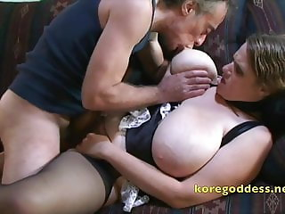 Big breasts Maid being face fucked