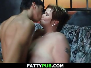 Guy fucks huge melons big beautiful woman