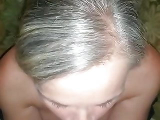 wife giving blow job before work