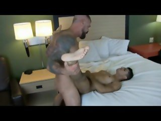 huge cock bareback ass stretching & balls deep fucking