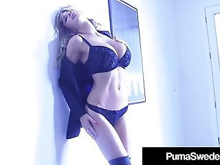 Busty Blonde Bombshell Puma Swede Dildo Bangs Her Sweet Cunt