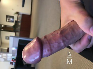 CAUGHT BY MY REAL BOSS!!!! Jerking in office Big Dick Public Work Stroking