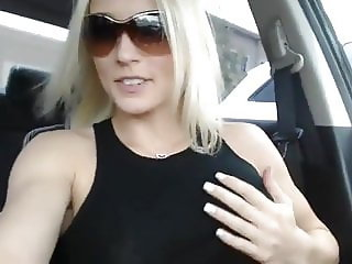 Orgasm sitting in her car