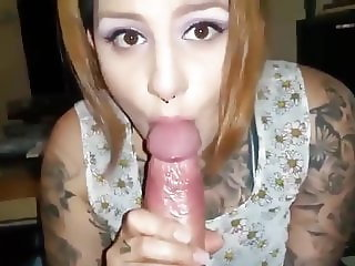 Emo Punk Blowjob rimjob & cum in mouth