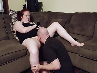 Pussy Eating Session, with Ignoring Hairy Redhead PT1