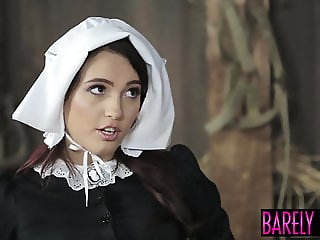 Barely Legal Amish girl gives her best friend her pussy