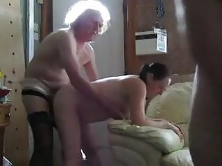 Doggy style spitroast 3 some