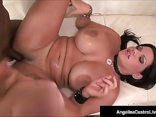Thick Plump Cuban Angelina Castro Rides A Big Black Cock!