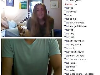 ChAt sexy girl playing with me in omegle webcam