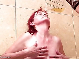 Dirty lesbian taboo sex with mom and daughter