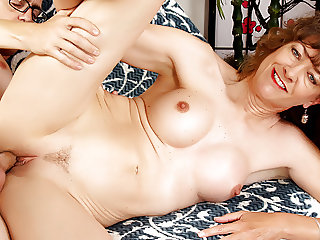 Mature Strumpet Babe Morgan Blows and Bangs a Younger Guy