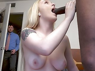 Husband caught on her Wife sucking a BBC