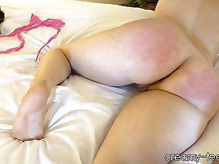 18yo tinder date tied up spanked and fucked
