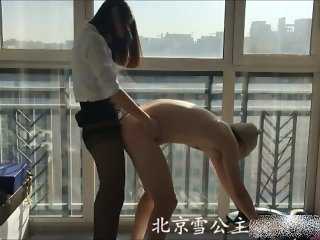 Chinese female master played SM with her male slave