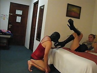 sadobitch - lick my new boots for rascal999 - cum slave