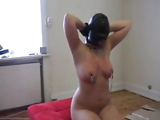 Hooded submissive girl facefucked
