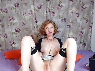 Red fox Fae with saggy tits pounds ginger dripping pussy
