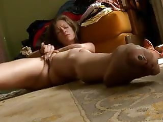 Horny girl masturbates at home