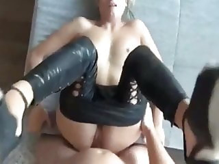 Sexy German Blonde Sucking Cock and Anal Fucked