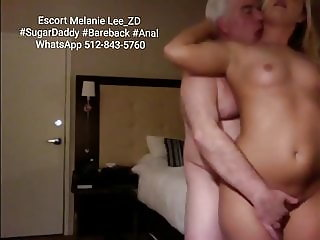 TEEN ESCORT MELANIE FUCKES OLD SUGAR DADDY BAREBACK