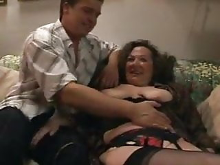 German Mature fuck young man