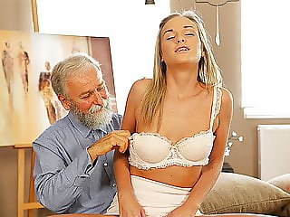 OLD4K. Old daddy enjoys fantastic sex with good-looking...