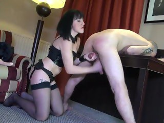 femdom sexy girl has extreme sex with slave boy humiliating him