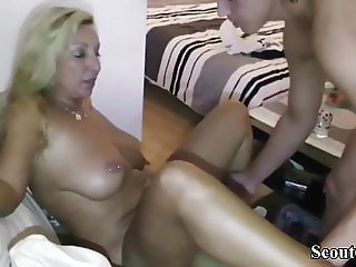 German Amateur MILF Teach Young Teen Guy How to Fuck right