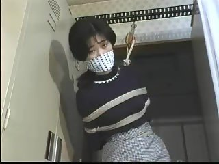 Sexy Office Girl Tied Gagged and Struggling